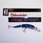 Sidewinder Rattle Back Blue / Silver Mackerel145mm Jointed Plug