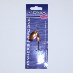 Ikonix Gold/Bronze Spinner with 3cm Blade.