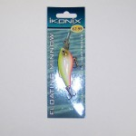 Ikonix Yellow White Red 3 inch Floating Minnow with Diving Action