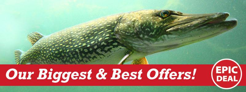Epic Deals - our biggest best fishing tackle deals