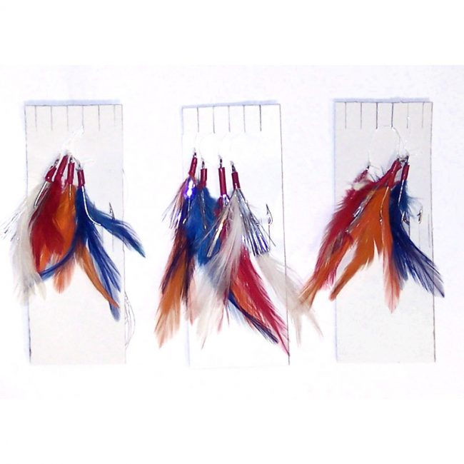 3-x-Packs-of-4Hook-Coloured-Mackerel-Feathers