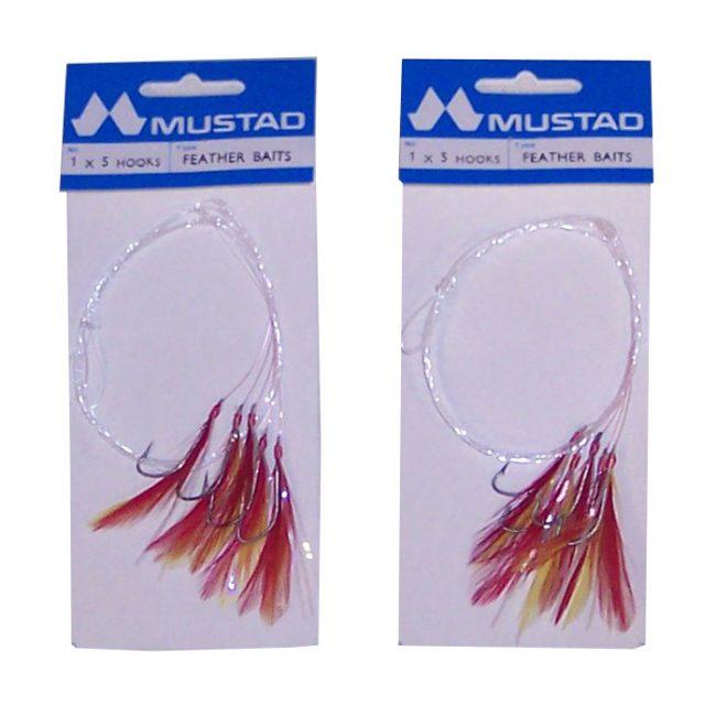 2-x-5-hook-Mustad-Rhubarb-and-custard-Feathers